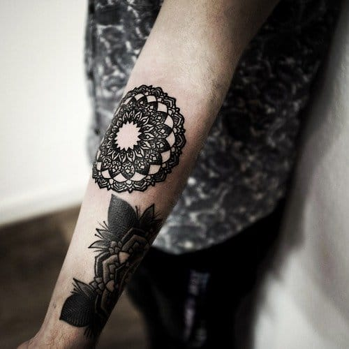 Blackwork mandala by Philip Yarnell