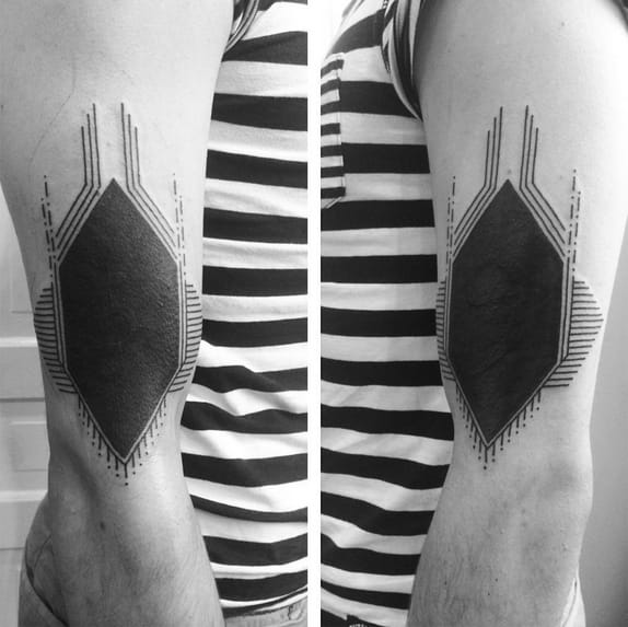 Blackwork tattoo by Josh Barnes
