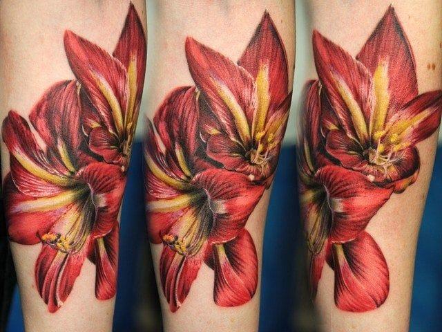 Beautiful orchid tattoo