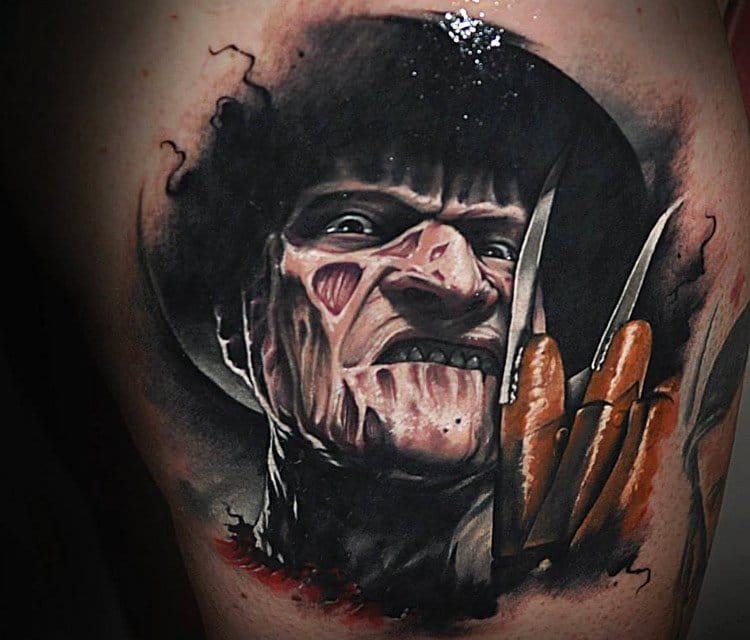 21 Wes Craven Tribute Tattoos Featuring His Finest Works