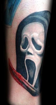 Scream tattoo, done at Black Onyx Tattoo Studio