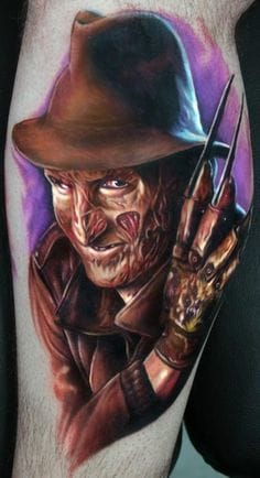Amazing Freddy Kruger tattoo by Paul Acker.