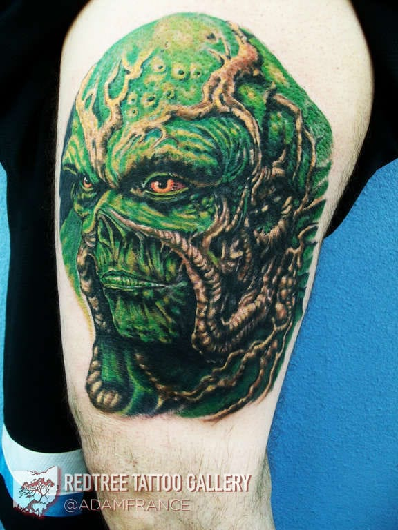 Swamp Thing tattoo by Adam France