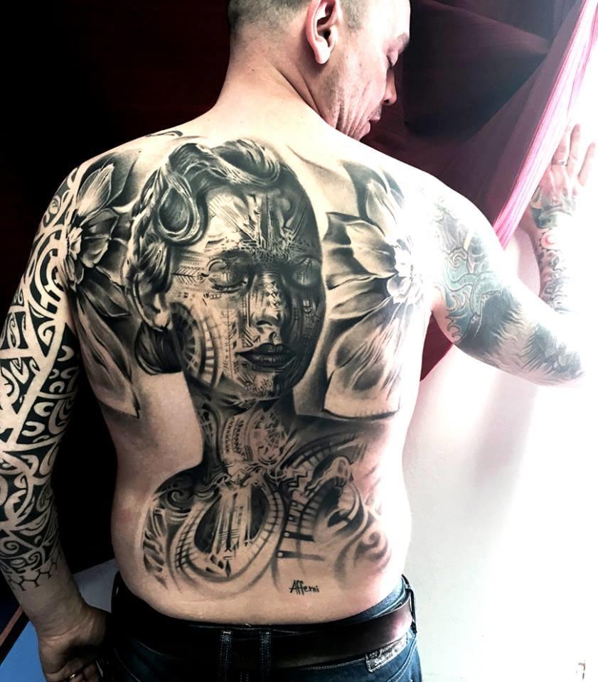 Afferni Backpiece Tattoo