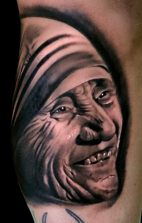Stunning Mother Teresa Tattoo