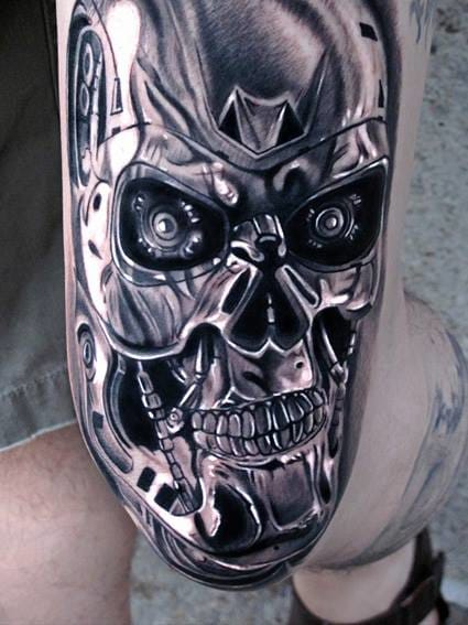 This Terminator tattoo is outstanding!!