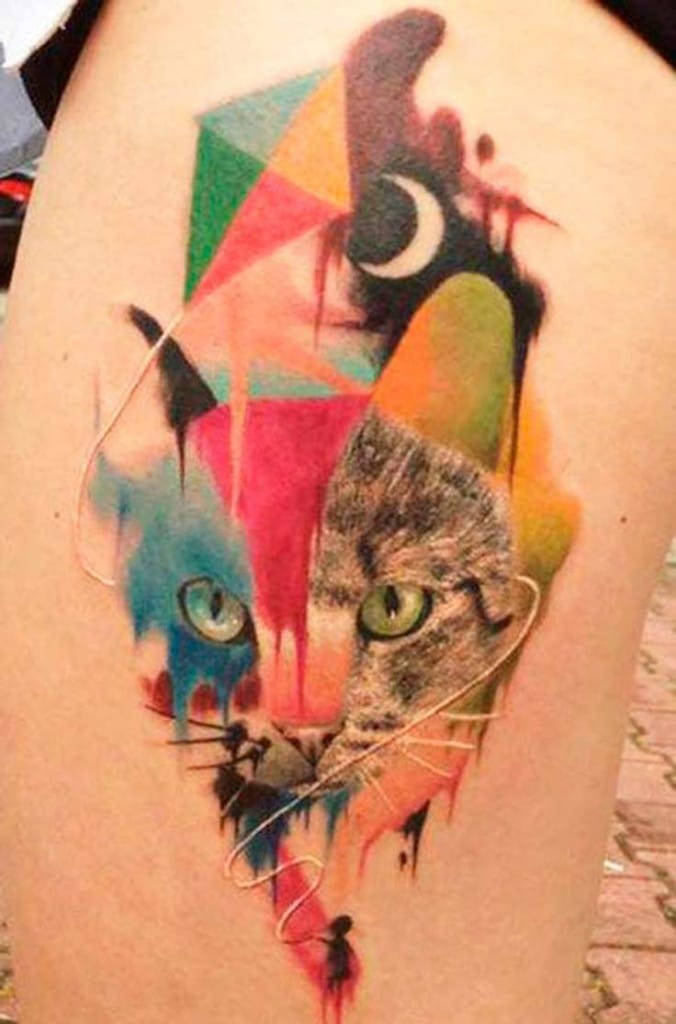 Kitty and kite by Dzikson Wildstyl.