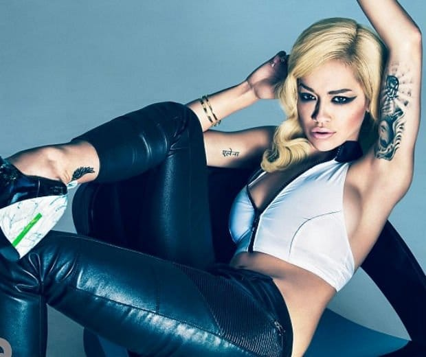 From feet to ears, Rita Ora is tattooed.