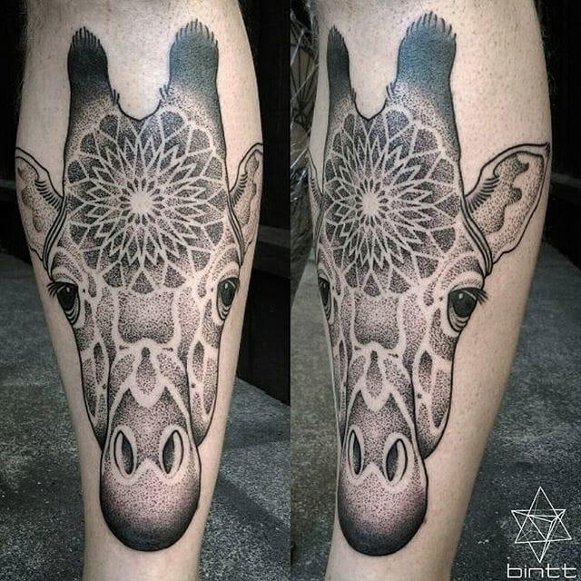Mandala giraffe.