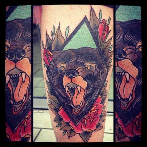 25 Mighty Traditional Bear Tattoos