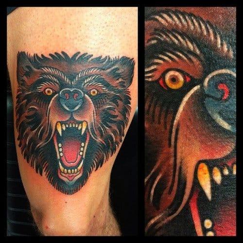 Fierce looking bear by Bert Thomas