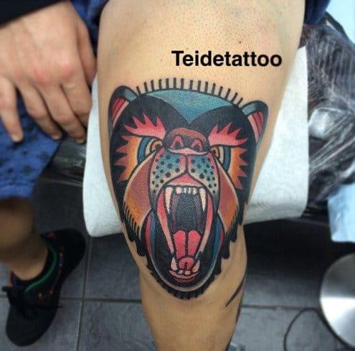 Cool Bear by Teidi Tattoo