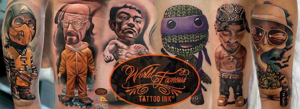 Denis Torikashvili: Tatuagens Realistas e Caricaturas Únicas