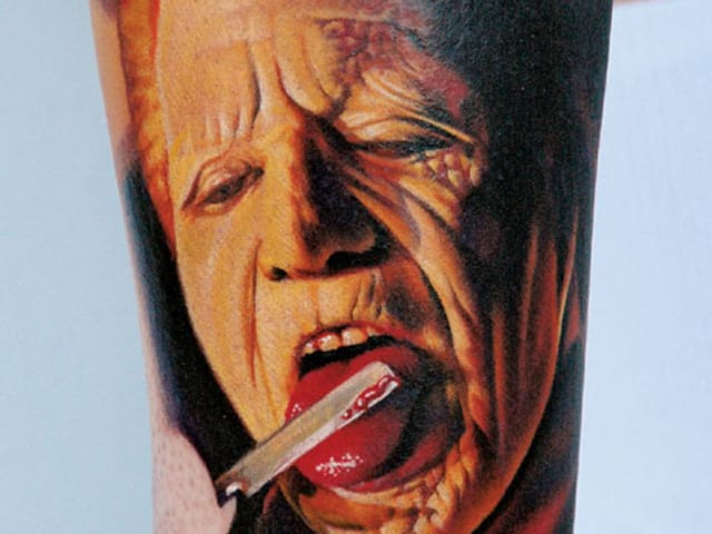Nikko Hurtado's movie-themed tattoos look cinematic as well.