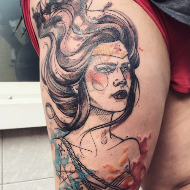 Gorgeous tattoo by Anki Michler.