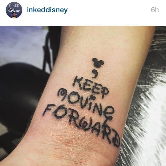 Disney's magic semicolon tattoo via @jme_ydg. #semicolon #semicolontattoo