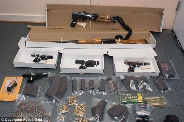 Bond's illegal firearms