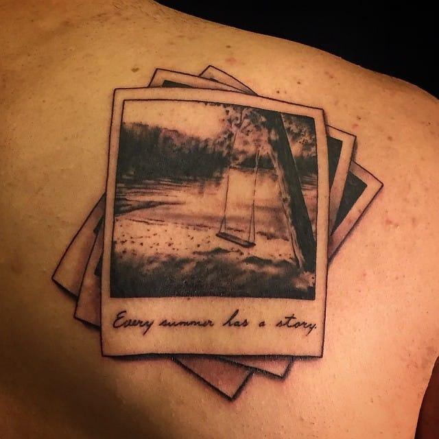 Gorgeous nostalgic tattoo by Lu Pariselli!