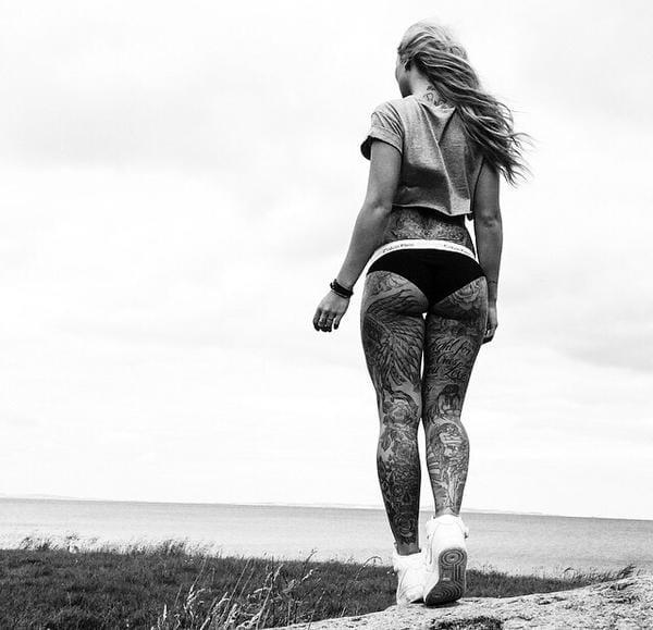 Sabrina Kongsted Leg Gorgeous Tattoos