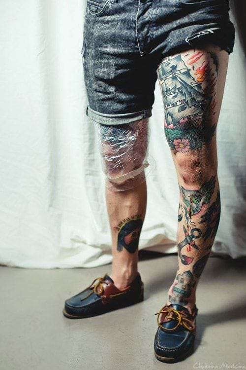 Awesome classic work on this guys legs!!
