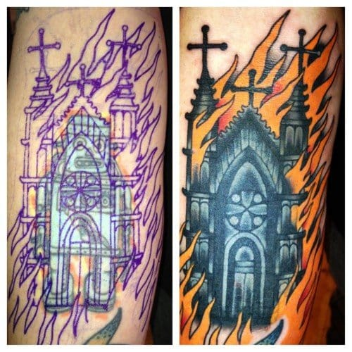 Cover Up Tattoo by Lucky Devil Tattoo