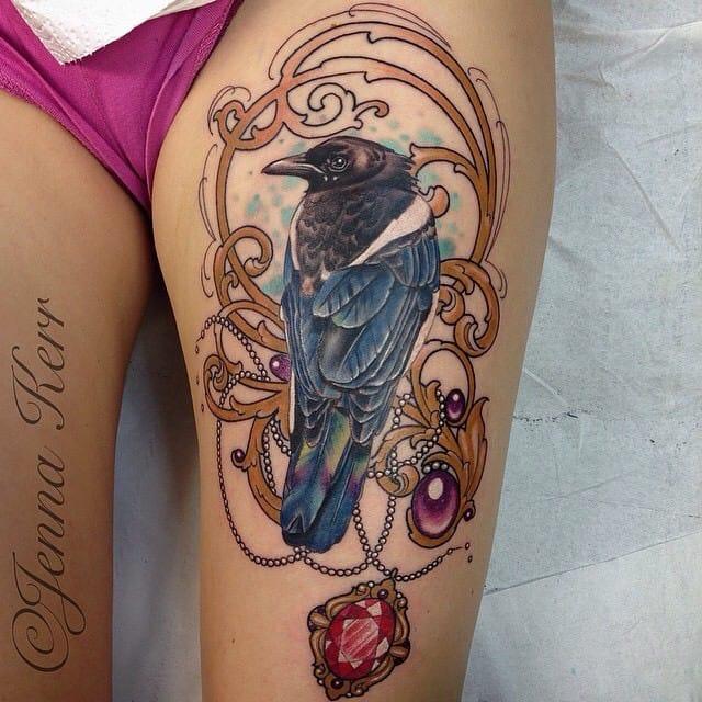 Elegant filigree by Jenna Kerr.