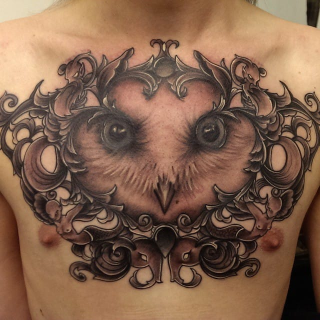 Gorgeous chestpiece by Rachel Honeywell.
