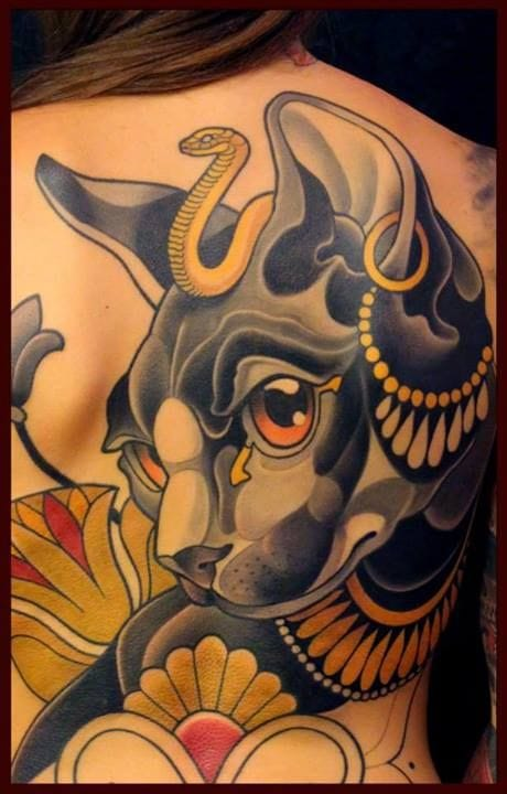Bastet Tattoo by Lars Uwe