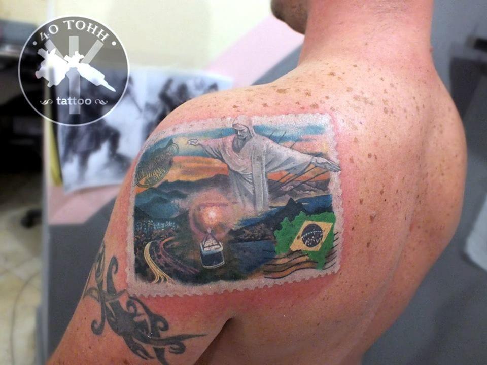 Fantastic Rio de Janeiro stamp! By 40 Tohh Tattoo.