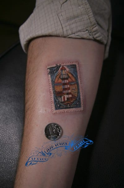 Incredible miniature tattoo by Ivan Vostok!