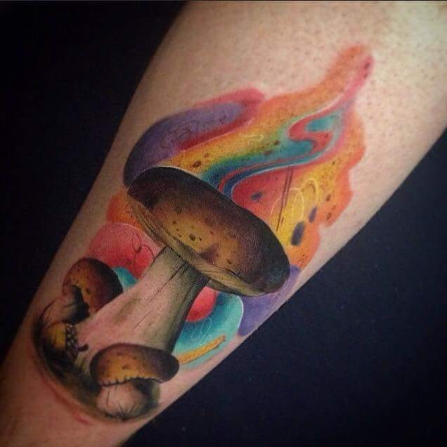 Another psychedelic tattoo, by Kevin Dixon.