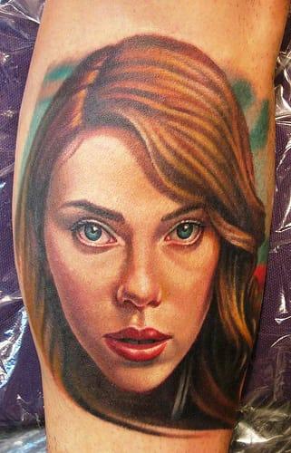 Scarlett Johansson tattoo