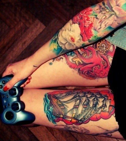 Tatuada e Gamer, eu tenho a sorte de ser casado com uma! (Sabe o nome do artista? Conte para a gente nos comentários)