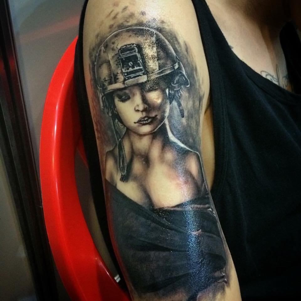 Tatuagem apresentada na primeira convenção de Davi