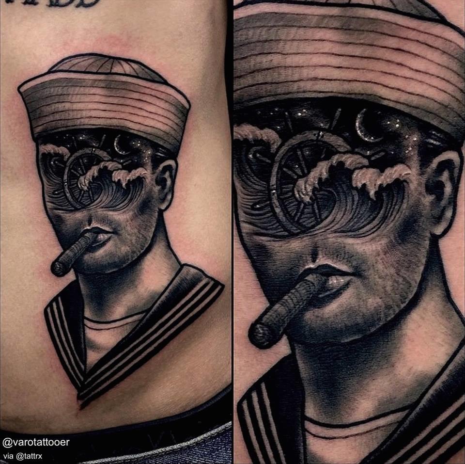 Cool wave sailor vy Varo Tattooer... wave tattoos