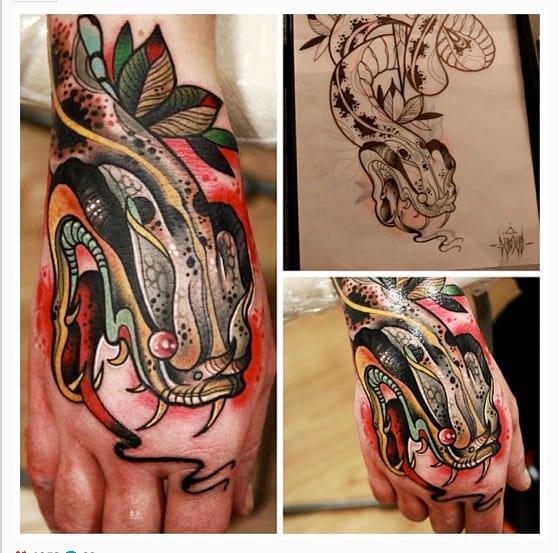 Love this hand tattoo!!