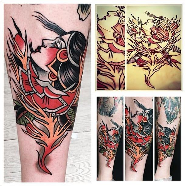 Domus Woman Rose Tattoo