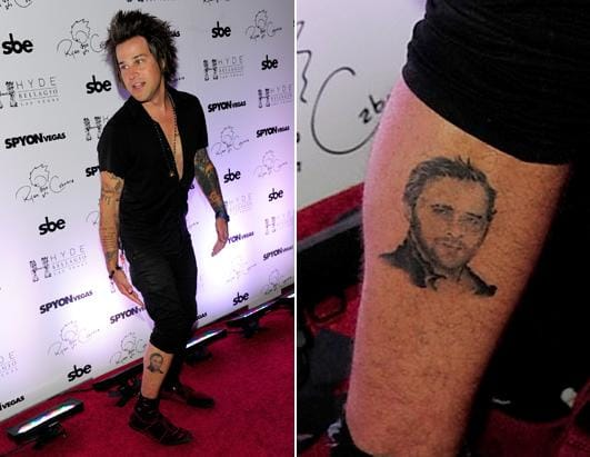 5. Ryan Cabrera tattooed Ryan Gosling on his calf