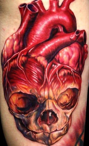 Coração anatômico com caveira!