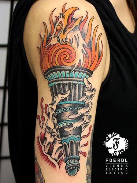 An awesome tattoo by Vienna Electric Tattoo