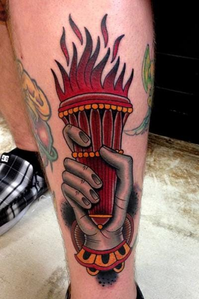 Bold Torch Tattoo by Montalvo Tattoos