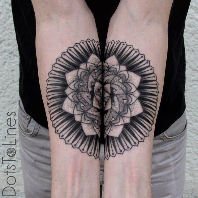 8 Beautiful & Intricate Half Mandala Tattoos