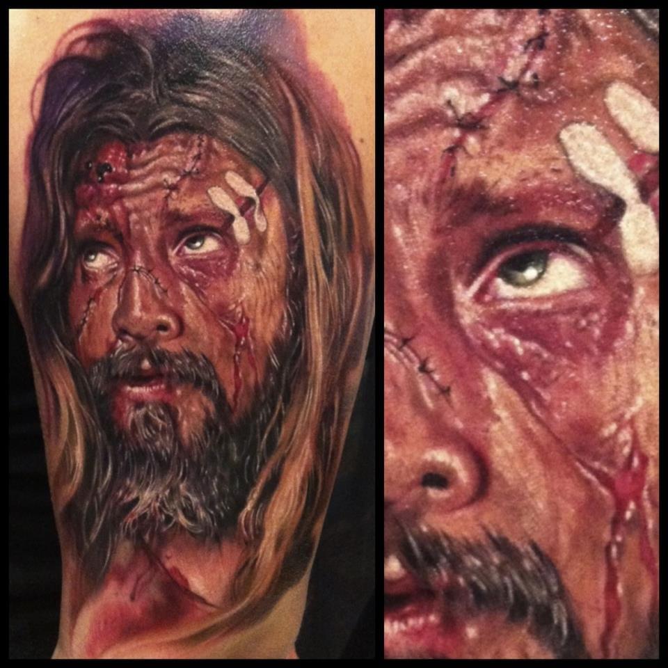 Os detalhes em toda a tatuagem chamam a atenção
