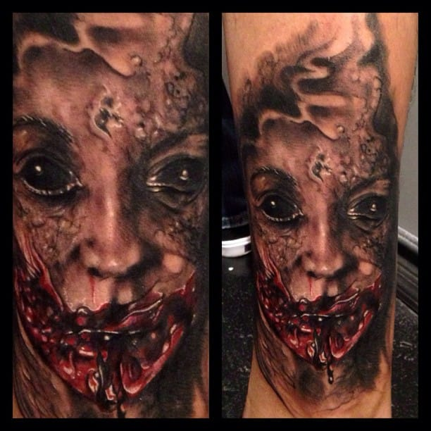 Horror tattoo by Ron Russo