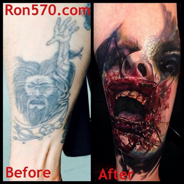 Check out these insane cover ups he did for some clients!
