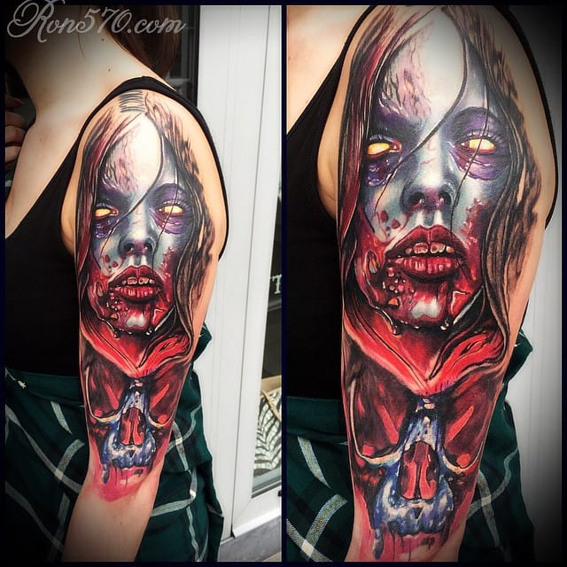 Scary tattoo by Ron Russo