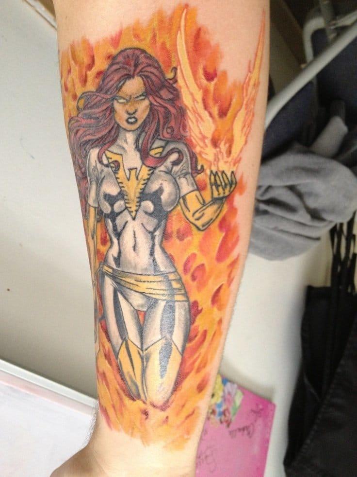 Jean Gray tattoo