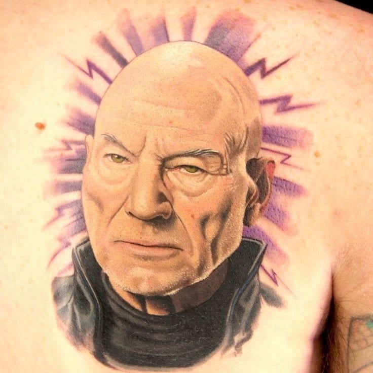 Professor X tattoo
