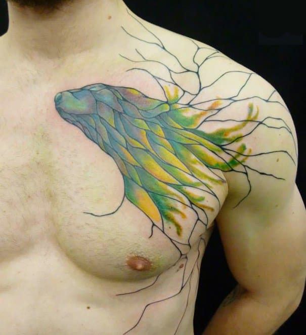 Tattoo Artist Traces The Flow Of Bodies To Create Unique Tattoos