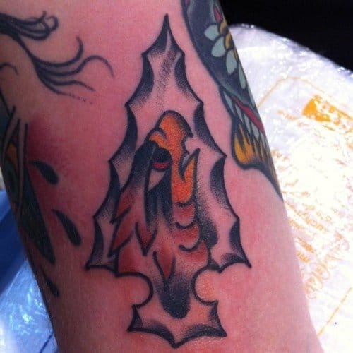 Great Eagle Arrowhead Tattoo by Jells Tattoos